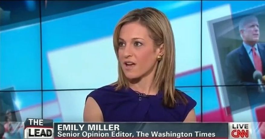 "Emily Miller on CNN's ""The Lead with Jake Tapper"". April 1, 2013"