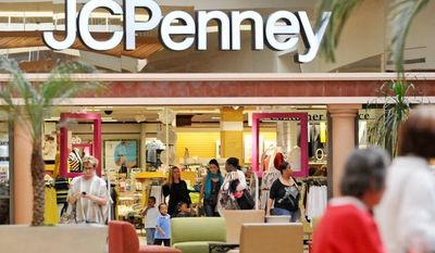 ** FILE ** Shoppers are shown outside the J.C. Penney Co. store at the Mall of Victor Valley in Victorville, Calif. (AP Photo/Daily Press, David Pardo)