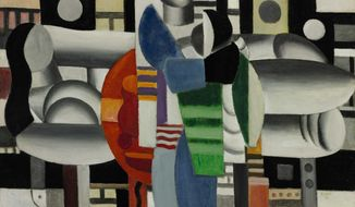 """Pop signer Madonna put up for auction """"Three Women at the Red Table"""" by Fernand Leger to support girls' education in Afghanistan, Pakistan and other countries. (AP Photo/Sotheby's)"""