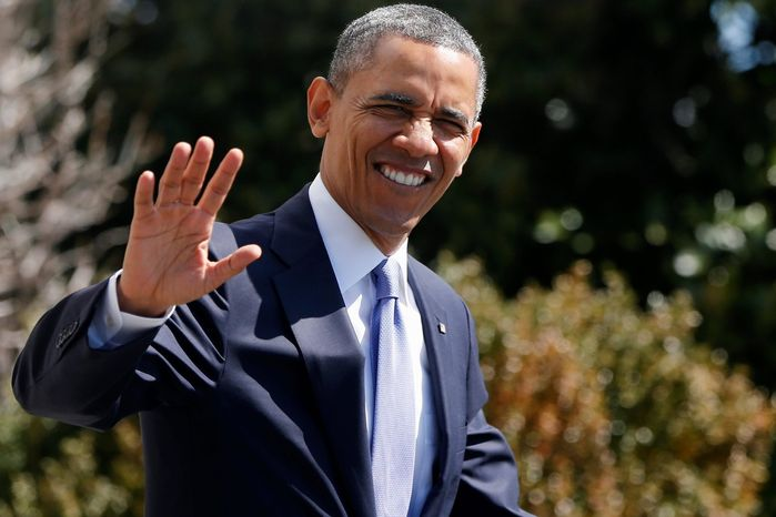 "President Obama is returning 5 percent of his $400,000 annual salary in sympathy with the plight of federal workers facing possible furlough due to the ""sequester"" federal budget cutbacks. (Associated Press)"