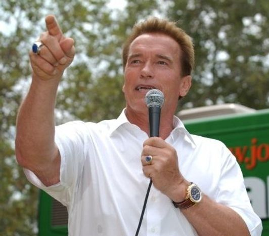 Arnold Schwarzenegger has joined the ranks of high-profile folks eager to warn the world about global warming. (image from Arnold Schwarzenegger)