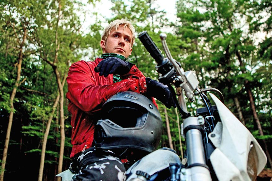 """Ryan Gosling reunites with """"Blue Valentine"""" director Derek Cianfrance for """"The Place Beyond the Pines,"""" a powerful portrait of forgiveness and redemption. (Focus Features via Associated Press)"""