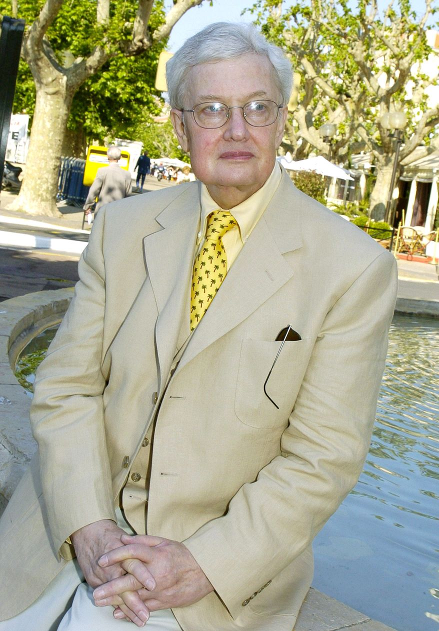 **FILE** Pulitzer Prize winning film critic Roger Ebert attends the 57th International Film Festival in Cannes in May 17, 2004. (Associated Press)