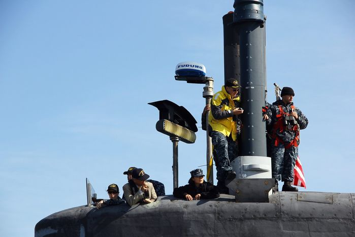 Women have been permitted to serve on guided-missile submarines such as the USS Ohio since 2009. Now they will be able to serve on smaller submarines used for surveillance, reconnaissance and intelligence-gathering. (U.S. Navy photograph)