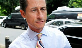 ** FILE ** Former Rep. Anthony Weiner (Associated Press)