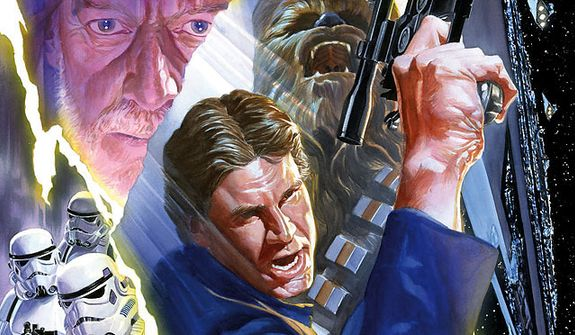 Alex Ross cover art shines in the sequential art series Star Wars from Dark Horse Comics.