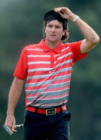 Bubba Watson walks to the 18th green during the first round of the 2013 Masters Tournament at Augusta National Golf Club on Thursday, April 11, 2013, in Augusta, Ga. (Andrew Davis Tucker/The Augusta Chronicle)