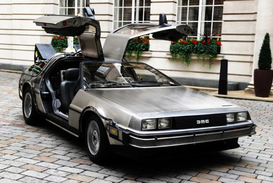 ** FILE **The original DeLorean car used in the movie 'Back to the Future.' (Associated Press)