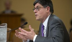 Treasury Secretary Jack Lew testifies on Capitol Hill in Washington on April 11, 2013, before the House Ways and Means Committee hearing to defend President Obama's budget proposal for fiscal 2014. (Associated Press)