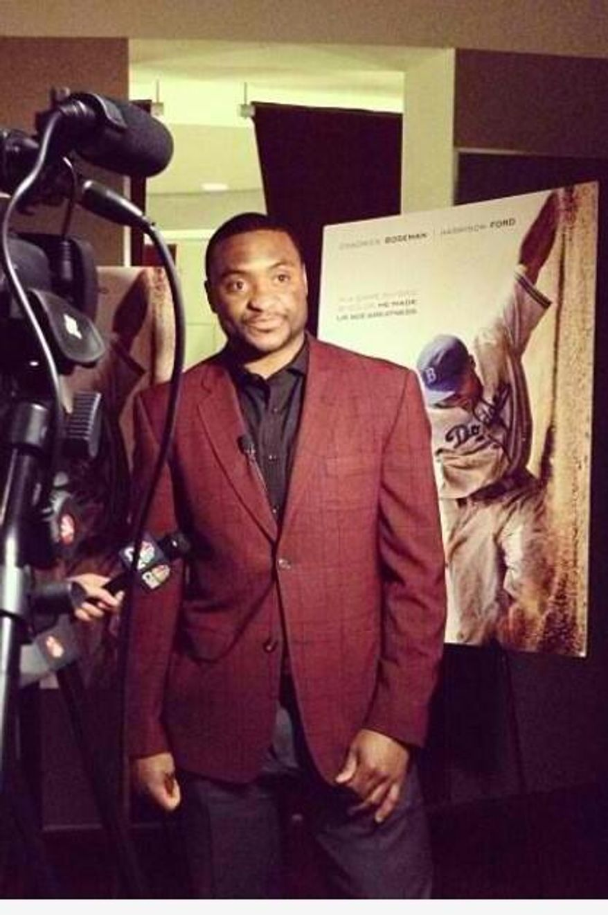 Joel Ward at a screening of '42' on Wednesday night. (Photo by Steven Oleksy)