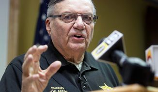 ** FILE ** Maricopa County, Ariz., Sheriff Joe Arpaio.