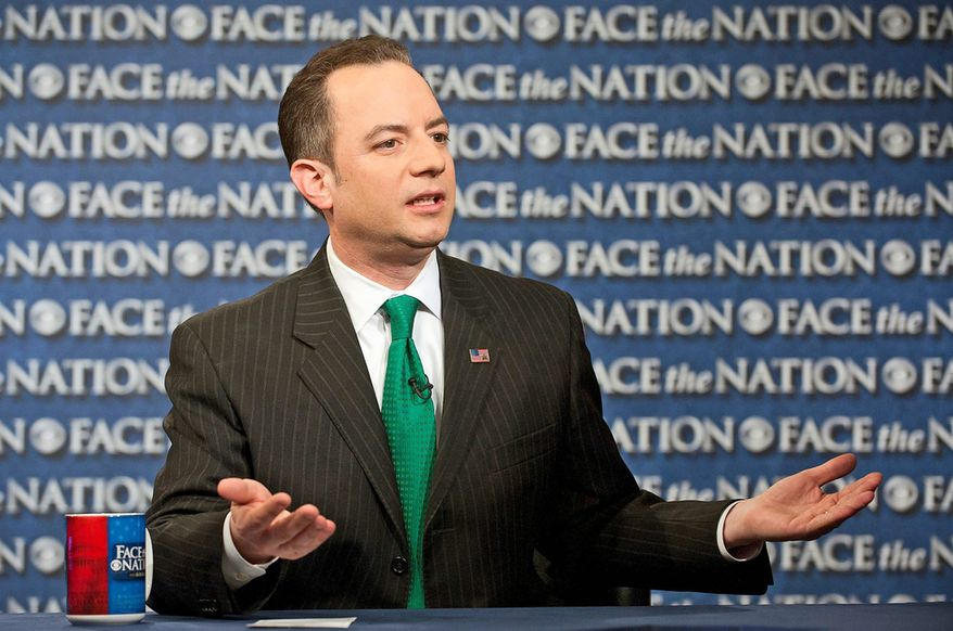 "Looking back at the 2012 election, Republican National Committee Chairman Reince Priebus concluded, ""Our message was weak, our ground game was insufficient, we weren't inclusive, we were behind in both data and digital, our primary and debate process needed improvement."" (CBS News via Associated Press)"