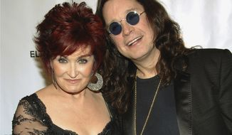 "Sharon and Ozzy Osbourne arrive at the Elton John AIDS Foundation's sixth annual benefit, ""An Enduring Vision,"" at the Waldorf-Astoria Hotel in New York in 2007. (AP Photo/Evan Agostini) ** FILE **"