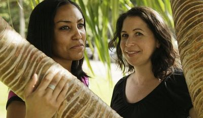 Taeko Bufford (left) and Diane Cervelli, pictured near Waikiki beach in Honolulu in 2011, sued a Hawaiian bed-and-breakfast owner for discrimination after the proprietress said she would not accommodate the couple because she was uncomfortable putting up same-sex couples. (AP Photo/Eric Risberg)