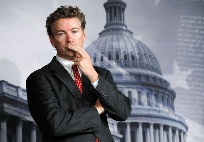 Sen. Rand Paul, Kentucky Republican, said he is still torn on what to do with some of the enemy combatants in the war on terrorism captured overs