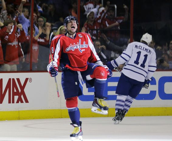 Washington Capitals left wing Alex Ovechkin celebrates a goal. He may also being celebrating the fact he's one of the 1.3% of the lucky global population