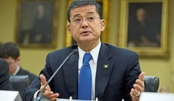 Veterans Affairs Secretary Eric K. Shinseki said that as a veteran himself, no one wants to see disability claim backlogs cleared more than he does. He told a House subcommittee on Thursday, April 18, 2013, that the agency is making progress. (Associated Press)