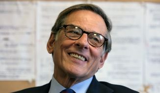Pulitzer Prize-winning author and biographer Robert Caro is shown during an interview in New York in 2008. (AP Photo/Bebeto Matthews)
