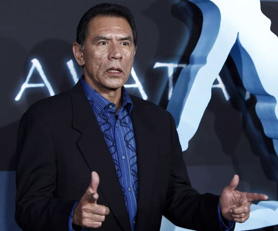 "** FILE ** Actor Wes Studi arrives at the premiere of ""Avatar"" in Los Angeles on Dec. 16, 2009. (AP Photo/Matt Sayles)"