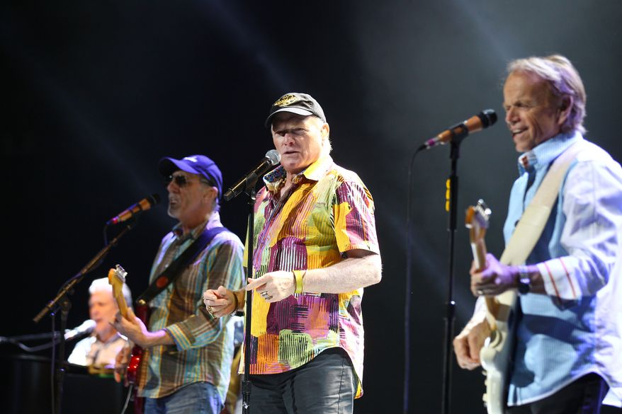 **FILE** From left, the Beach Boys' Brian Wilson, David Marks, Mike Love and Al Jardine perform in concert in Sydney, Australia, on Aug. 30, 2012. (Associated Press)