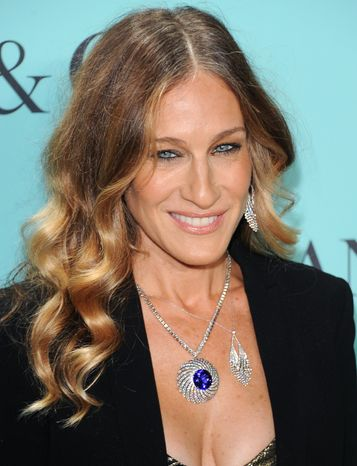 Actress Sarah Jessica Parker attends the Tiffany & Co. Blue Book Ball at Rockefeller Center in New York on April 18, 2013. (Evan Agostini/Invision/Associated Press)