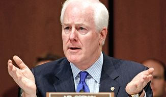 """Despite the promises made by President Obama  Obamacare is causing health insurance premiums to rise,"" says Sen. John Cornyn, Texas Republican. A bill he has introduced ""would bring much-needed transparency to the onslaught of higher costs families will be facing."""