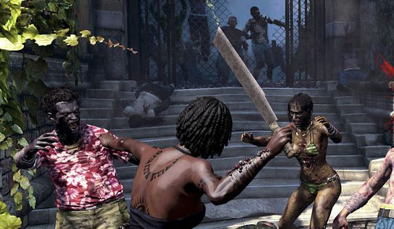 The video game Dead Island: Riptide's all-inclusive resort include machetes.