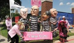 A coalition of activist groups, including Code Pink, fought in court for their right to protest the dedication of the George W. Bush Presidential Library on Thursday.
