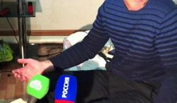In this image taken from a mobile phone video, the father of USA Boston bomb suspects, Anzor Tsarnaev reacts as he talks to the media about his sons, in his home in the Russian city of Makhachkala, Friday April 19, 2013. One son is now dead, and one son Dzhokhar Tsarnaev is in police custody. (AP Photo)