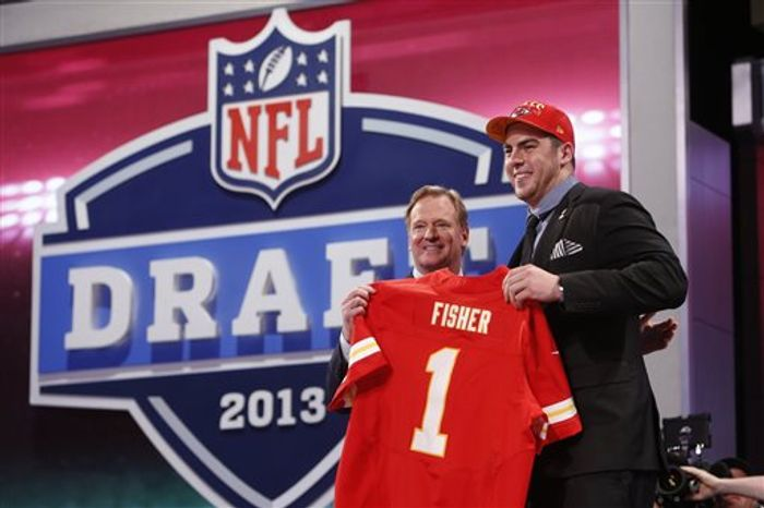 Central Michigan OT Eric Fisher, the No. 1 overall draft pick by the Kansas City Chiefs / Associated Press