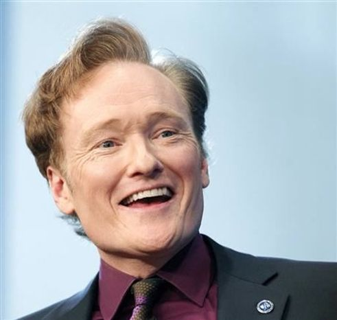 ** FILE **  Comedian Conan O'Brien speaks at the John F. Kennedy Presidential Library in Boston, May 24, 2012. O'Brien will be spending a late night