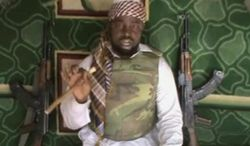Video posted by Boko Haram sympathizers shows the leader of the radical Islamist sect, Imam Abubakar Shekau. The Associated Press cannot independently verify the content, date, location or authenticity of this material.