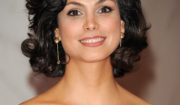 "Actress Morena Baccarin of the Showtime series ""Homeland"" attends the White House Correspondents' Association Dinner at the Washington Hilton Hotel on Saturday, April 27, 2013, in Washington. (Evan Agostini/Invision/AP)"