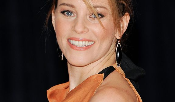 Actress Elizabeth Banks attends the White House Correspondents' Association Dinner at the Washington Hilton Hotel on Saturday, April 27, 2013, in Washington. (Evan Agostini/Invision/AP)