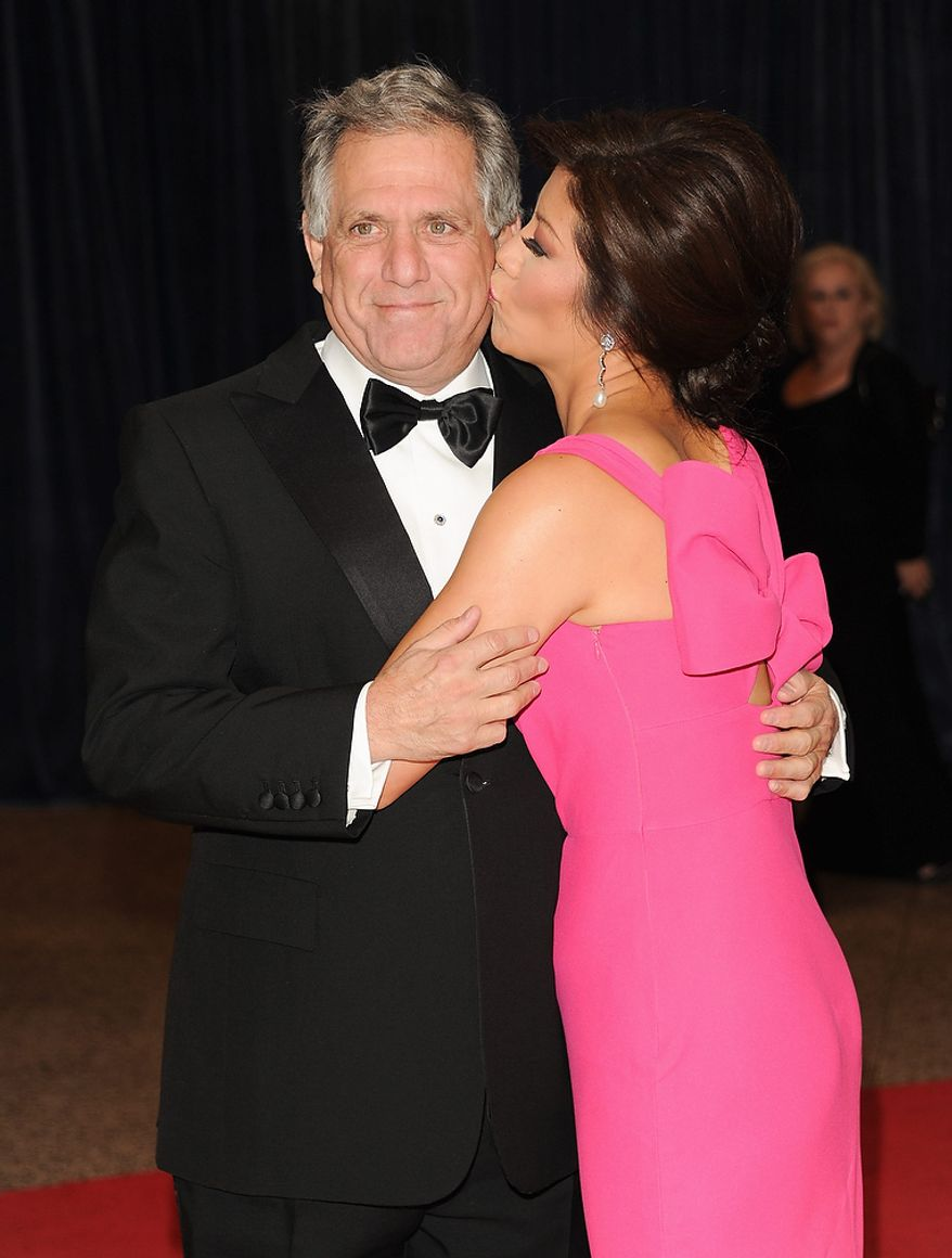 Leslie Moonves, president and CEO of CBS, and his wife, Julie Chen, attend the White House Correspondents' Association Dinner at the Washington Hilton Hotel on Saturday, April 27, 2013, in Washington. (Evan Agostini/Invision/AP)