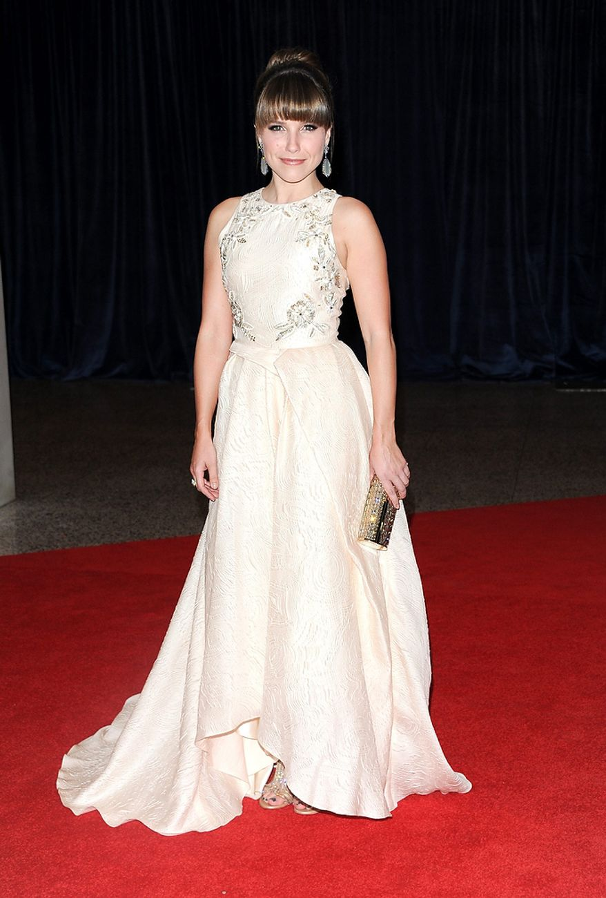 Actress Sophia Bush attends the White House Correspondents' Association Dinner at the Washington Hilton Hotel on Saturday, April 27, 2013, in Washington. (Evan Agostini/Invision/AP)