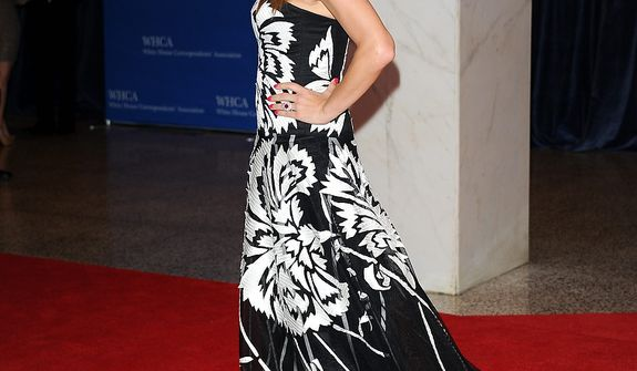 Actress Kate Walsh attends tthe White House Correspondents' Association Dinner at the Washington Hilton Hotel on Saturday, April 27, 2013, in Washington. (Evan Agostini/Invision/AP)