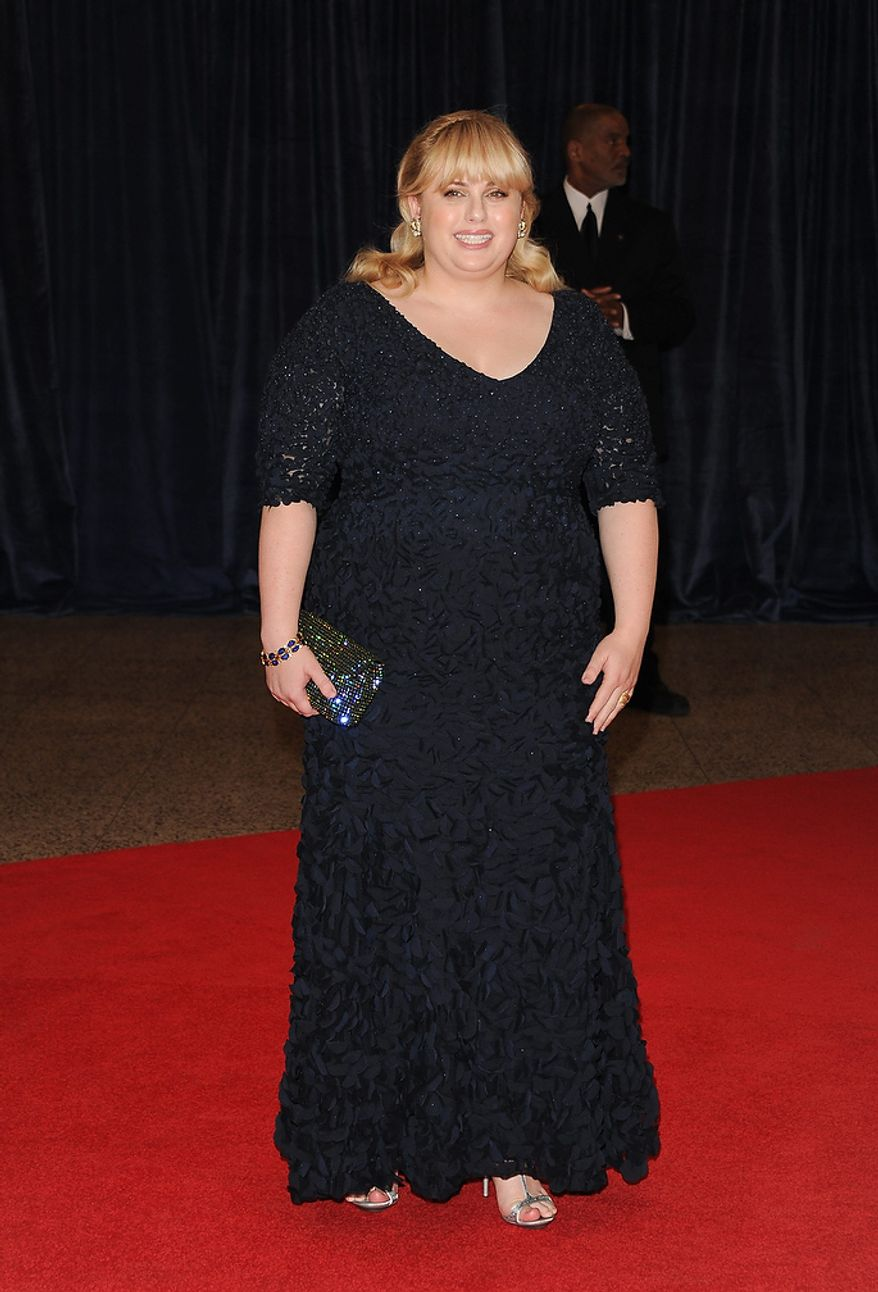 Actress Rebel Wilson attends the White House Correspondents' Association Dinner at the Washington Hilton Hotel on Saturday, April 27, 2013, in Washington. (Evan Agostini/Invision/AP)