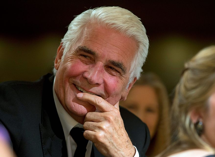 Actor James Brolin laughs during the White House Correspondents' Association Dinner at the Washington Hilton Hotel on Saturday, April 27, 2013, in Washington. (AP Photo/Carolyn Kaster)