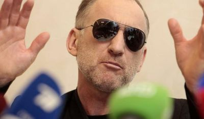 Anzor Tsarnaev, the father of the two Boston bombing suspects, speaks at a news conference in Makhachkala, in the southern Russian province of Dagestan, on Thursday, April 25, 2013. (AP Photo/Musa Sadulayev)