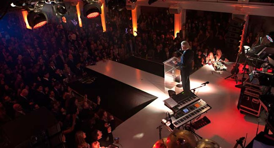 """Bill Clinton emcees one of many hip """"Millennial""""events for the young and restless.  (image from Clinton Foundation)"""
