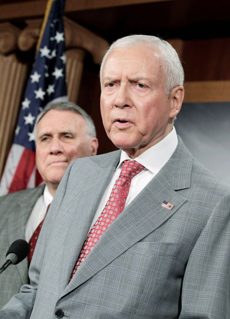 """Sen. Orrin G. Hatch, Utah Republican, is """"closely monitoring"""" proposed health insurance plan rates before the """"Obamacare"""" exchanges kick in 2014."""