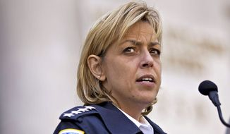 """I've seen weekends when we've had as many as 40 officers held out of service on hospital details guarding prisoners,"" Chief Cathy L. Lanier said Monday at a D.C. Council hearing. (The Washington Times)"