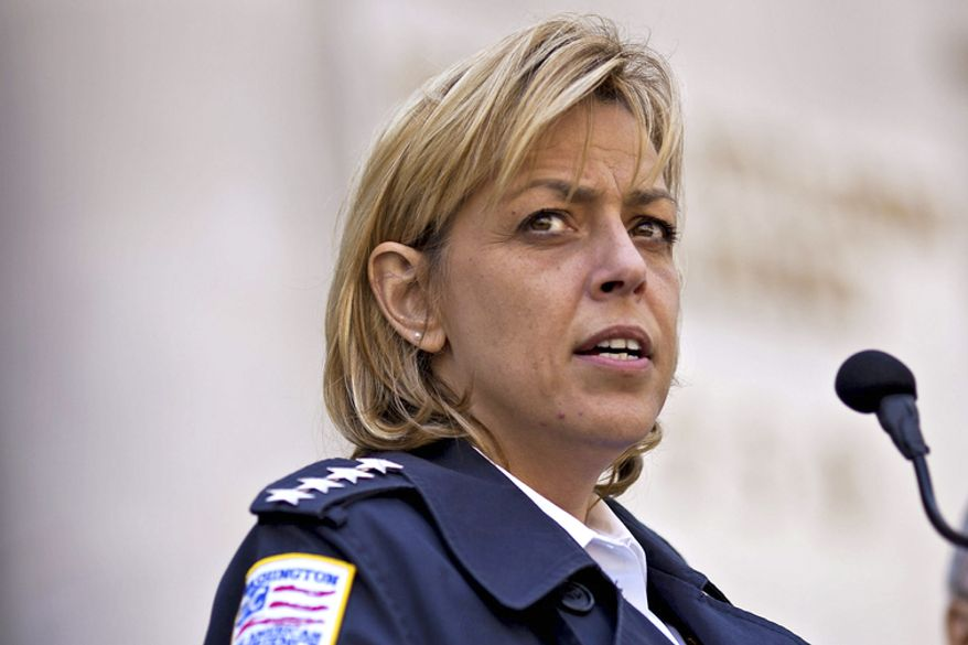 """""""I've seen weekends when we've had as many as 40 officers held out of service on hospital details guarding prisoners,"""" Chief Cathy L. Lanier said Monday at a D.C. Council hearing. (The Washington Times)"""