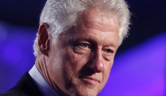 ** FILE ** Former President Bill Clinton speaks at the 20th anniversary of the United States Holocaust Memorial Museum in Washington, Monday, April 29, 2013. (AP Photo/Charles Dharapak)