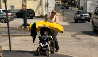 Henry Gribbohm lost his life savings playing a carnival game for a Rastafarian banana. (CBS Boston, WBZ)