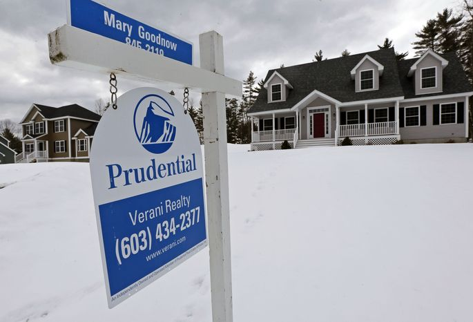 A home is for sale in Auburn, N.H., on Tuesday, March 5, 2013. (AP Photo/Charles Krupa)