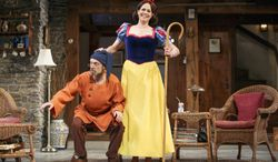 """David Hyde Pierce (left) and Sigourney Weaver star in the Broadway production of """"Vanya and Sonia and Masha and Spike."""" Mr. Pierce received a Tony nomination for best performance by an actor in a leading role in a play for his role in the show. (AP Photo/The O + M Company, Carol Rosegg)"""