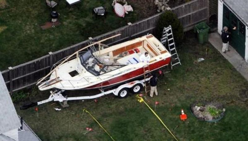 $50,000 raised to replace beloved backyard boat destroyed in Boston terrorist attack. The suspect, Dzhokhar A. Tsarnaev, was found hiding in the boat after a massive manhunt, in the backyard of the home in Watertown, Massachusetts. The 22-foot pleasure cruiser was hit by flash-bang grenades and bullets, and sprayed with blood during the events. (Getty)  A