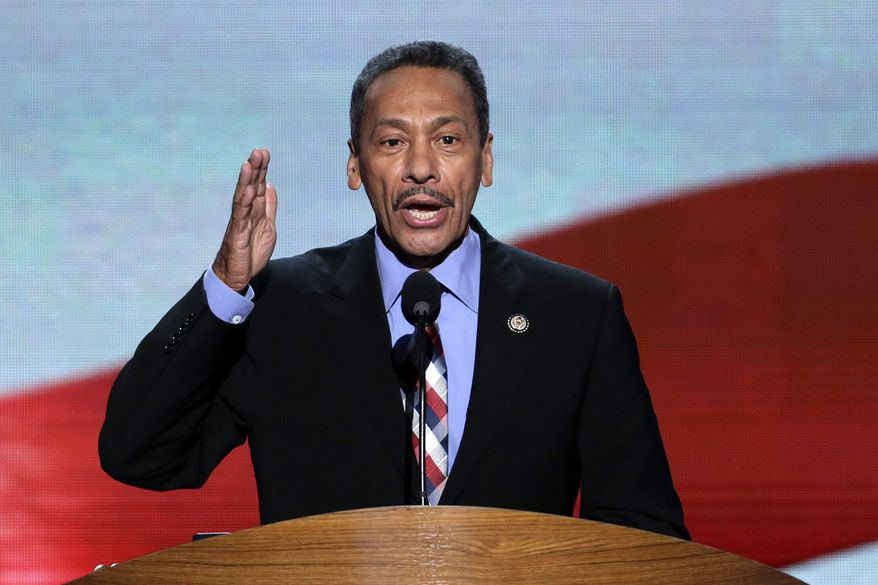 **FILE** Rep. Melvin Watt of North Carolina addresses the Democratic National Convention in Charlotte, N.C., on Sept. 6, 2012. (Associated Press)